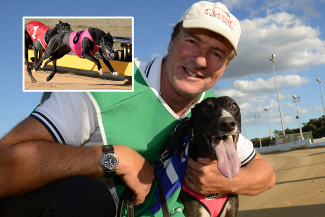 Trainer David Geall with his star Up Hill Jill update)