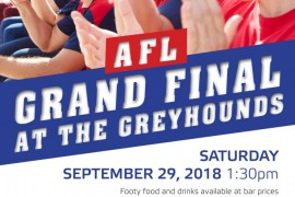 GRAND FINAL DAY AT THE GREYHOUNDS